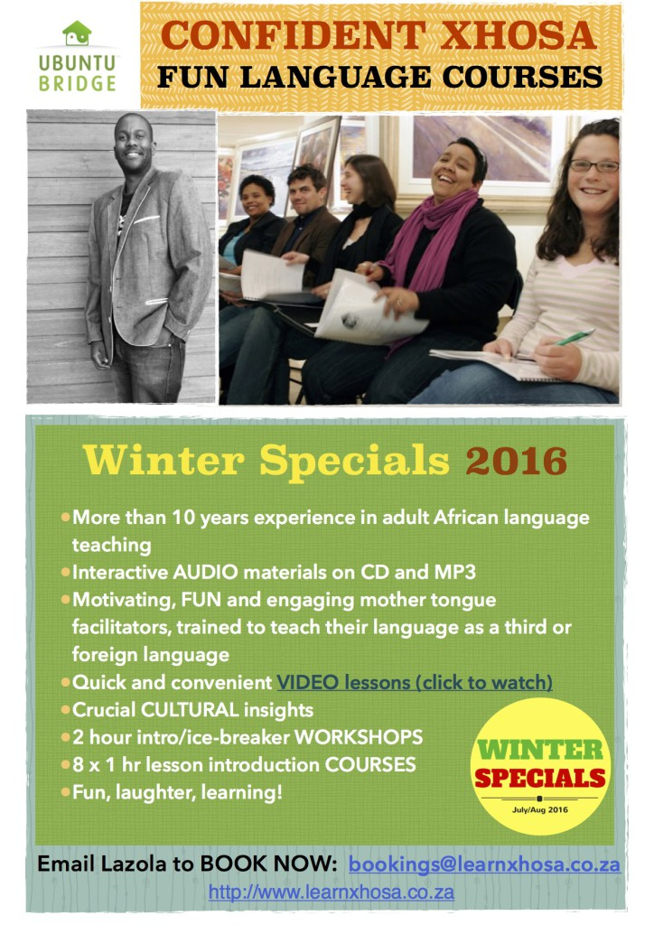 Learn Xhosa Winter Flyer