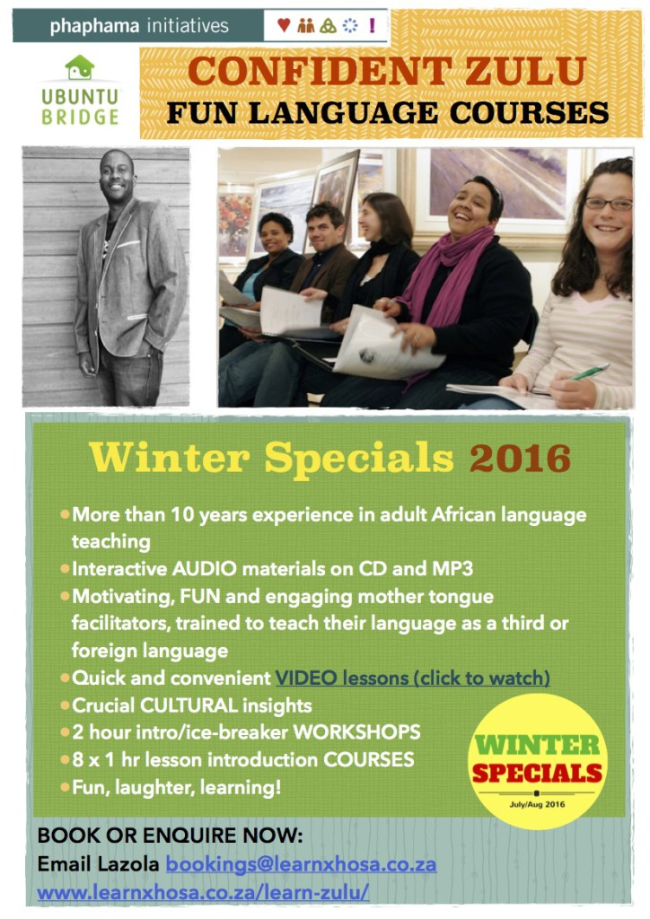 Learn Zulu Winter Specials Pg 1
