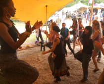 Lazola teaching iBhasi @Reforest Fest