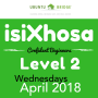 Xhosa Level 2 Apr 2018 weekly